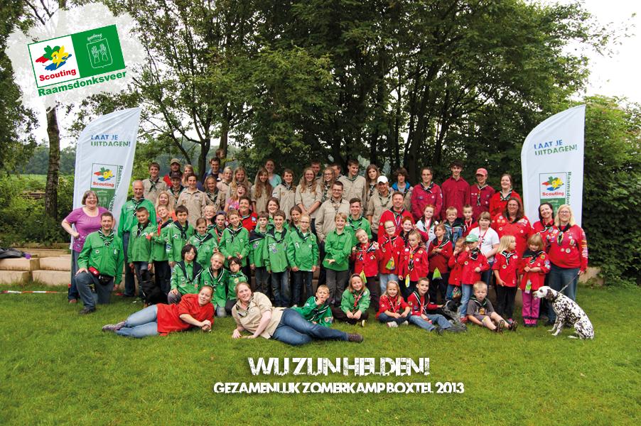 Groepsfoto ScoutingRveer Zoka2013